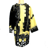 Diane Prekup Tunic, Black/Yellow, L