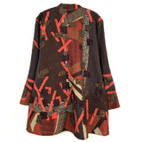 Diane Prekup Serenade Jacket, Chocolate/Rust, L