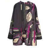 Diane Prekup Saturday Jacket, Grey/Fuchsia, L