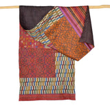 Darshan Shah Stole, Multi Colored Kantha, Pink Tussar Silk