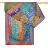 Darshan Shah Stole, Multi Colored Kantha Patches, Tussar Silk