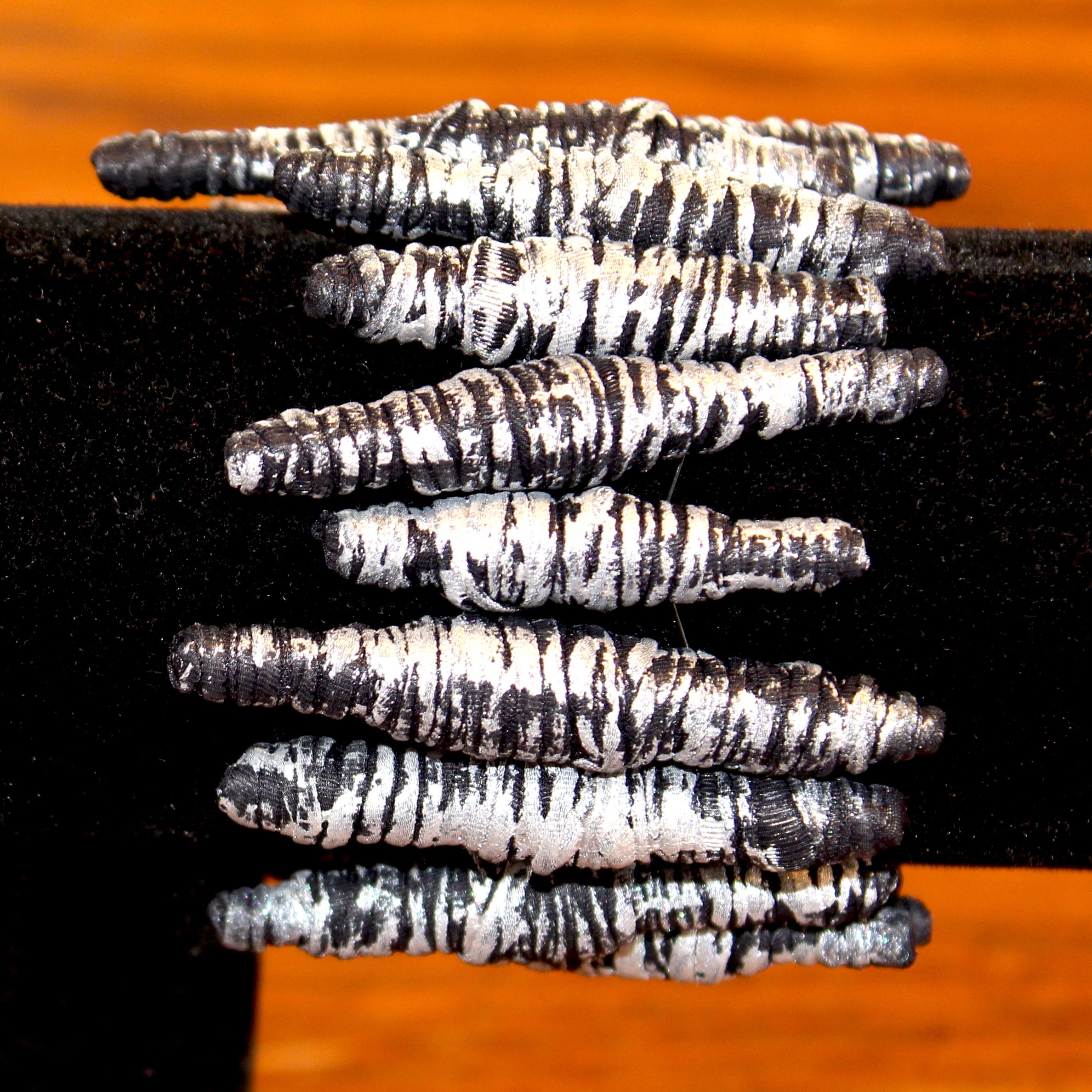 Merle Weismer Bracelet, Black and Silver