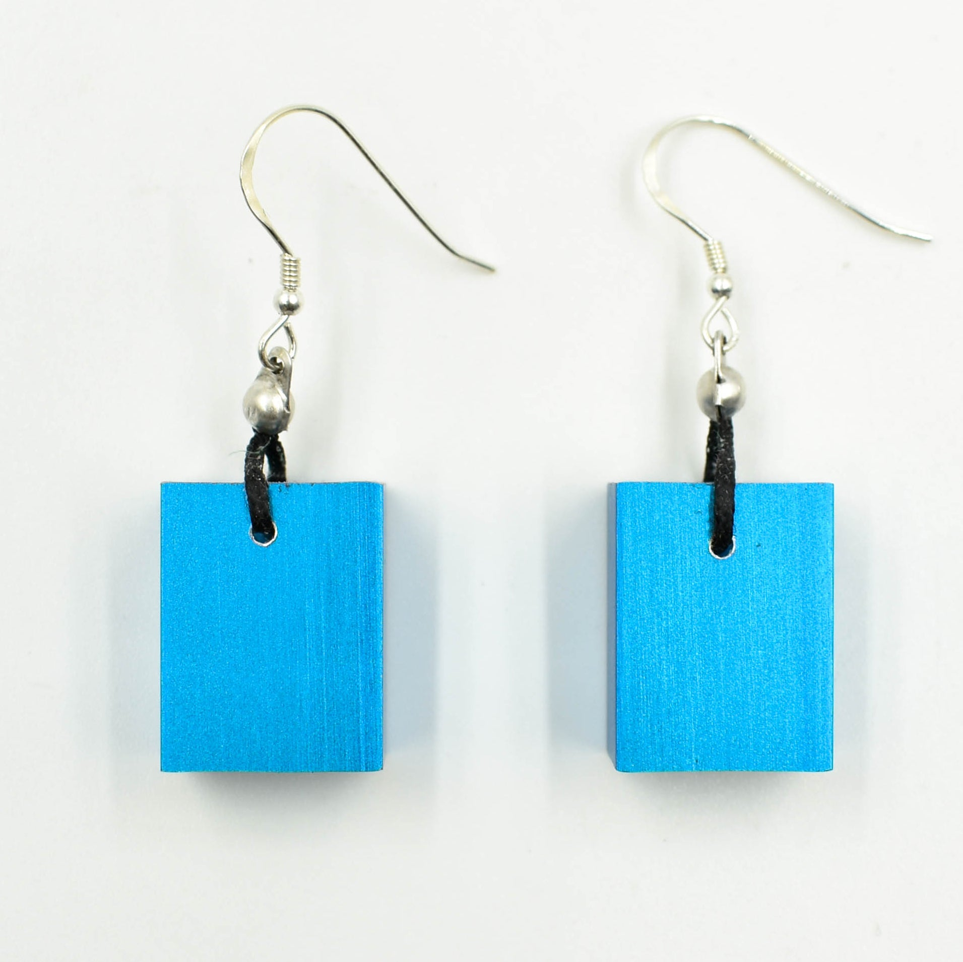 Christina Brampti Earrings, Cube, Aqua