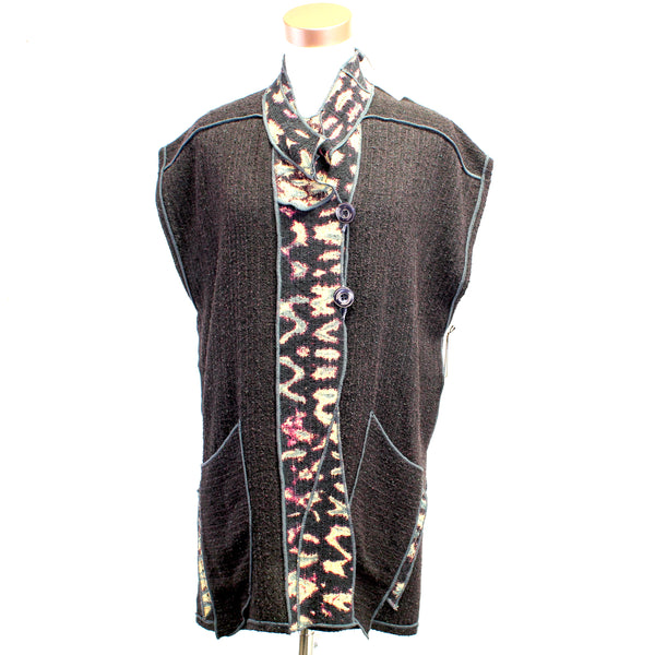 Judith Bird, Vest, Long, Black, M