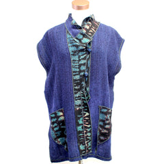 Judith Bird, Vest, Long, Deep Blue, XS