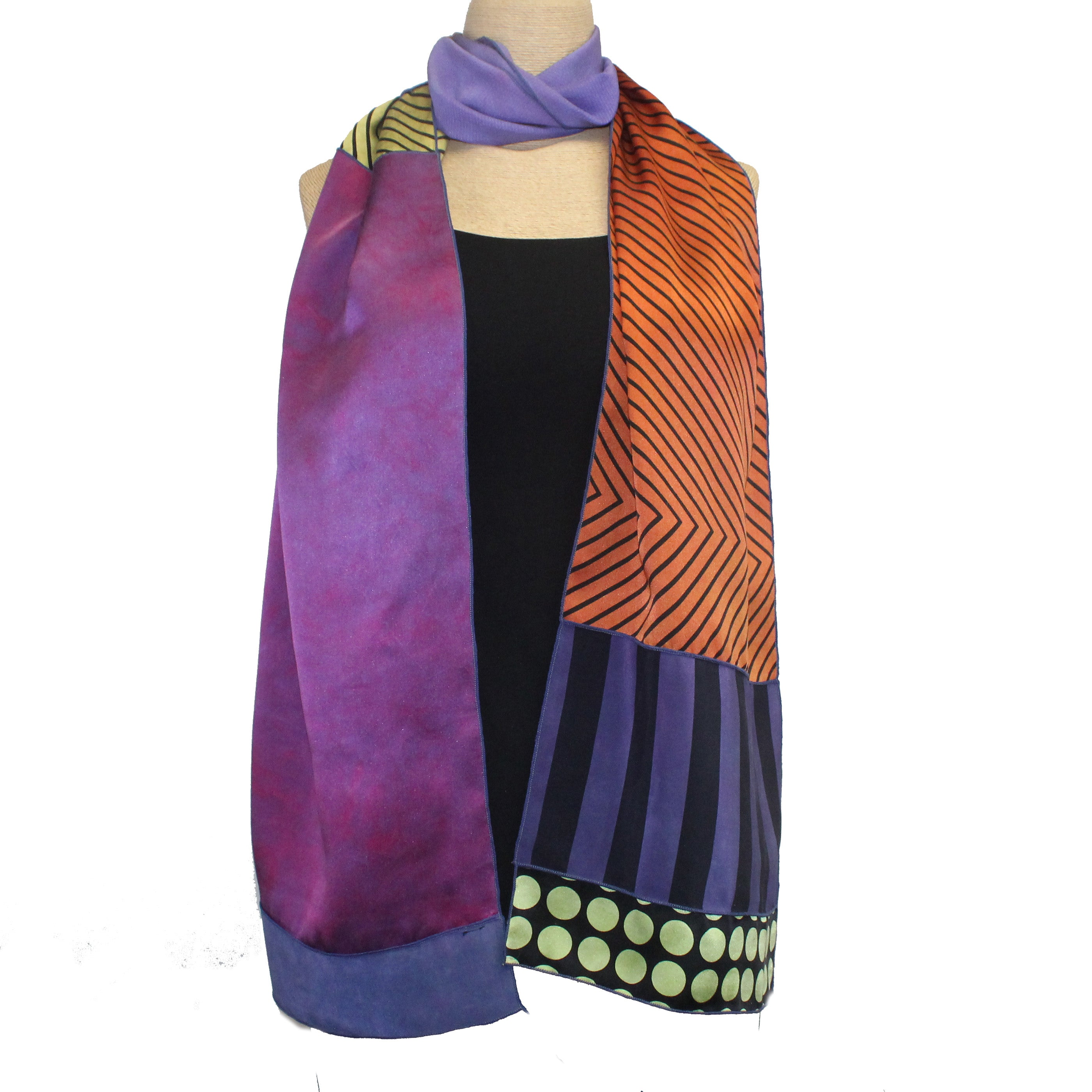 Judith Bird Scarf, Silk Singles, Purples & Friends