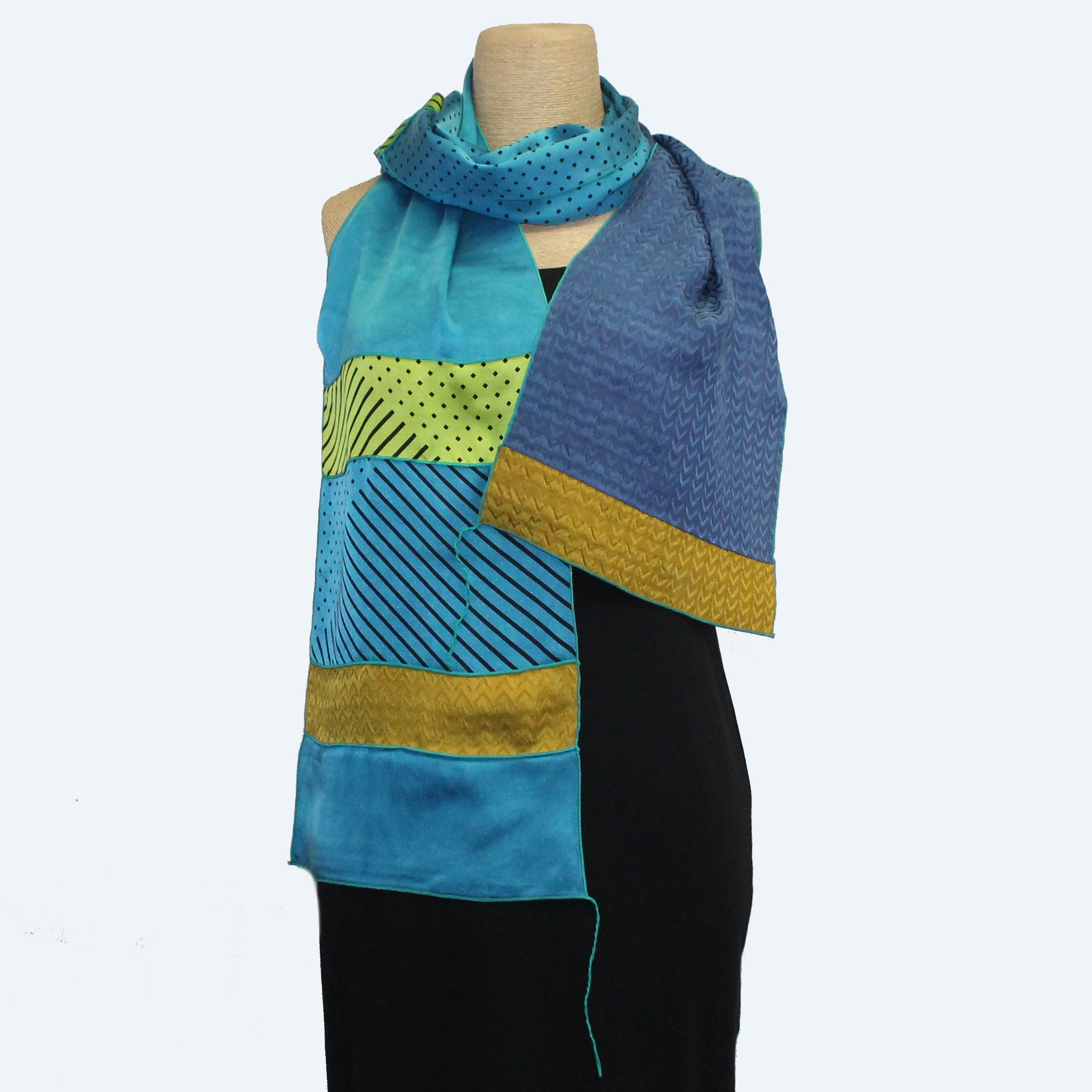 Judith Bird Scarf, Silk Singles, Northern Lights