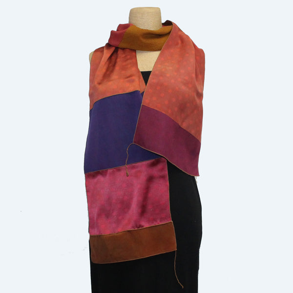 Outfit 7:  Judith Bird Scarf, SilkSingles, Colorful With Purple