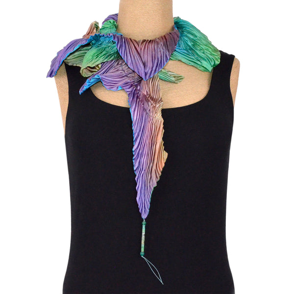 Outfit 9:  Judith Content Scarf, Medium, Green and Purple
