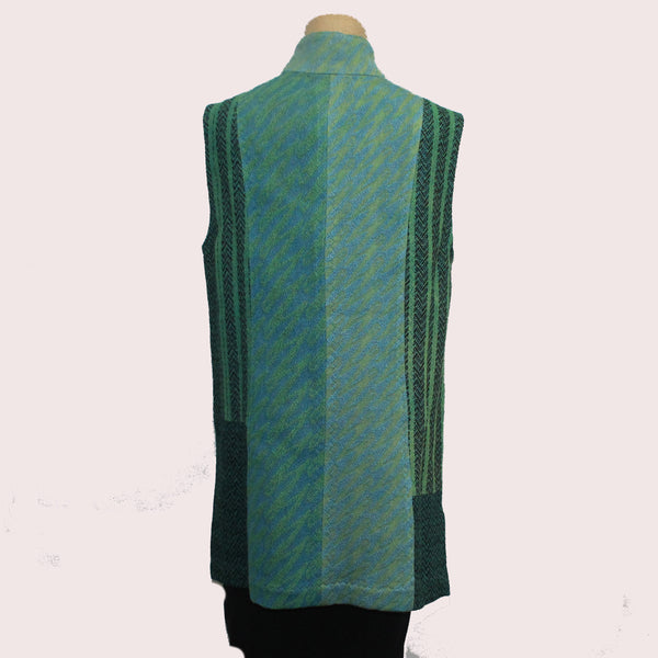 Joyce Wilkerson Vest, City Lights, Turquoise/Teal, XS/S