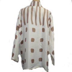 Kay Chapman Shirt, Cream/Tan, M/L