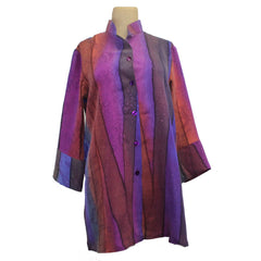 Kay Chapman Shirt, Purple/Rust, S