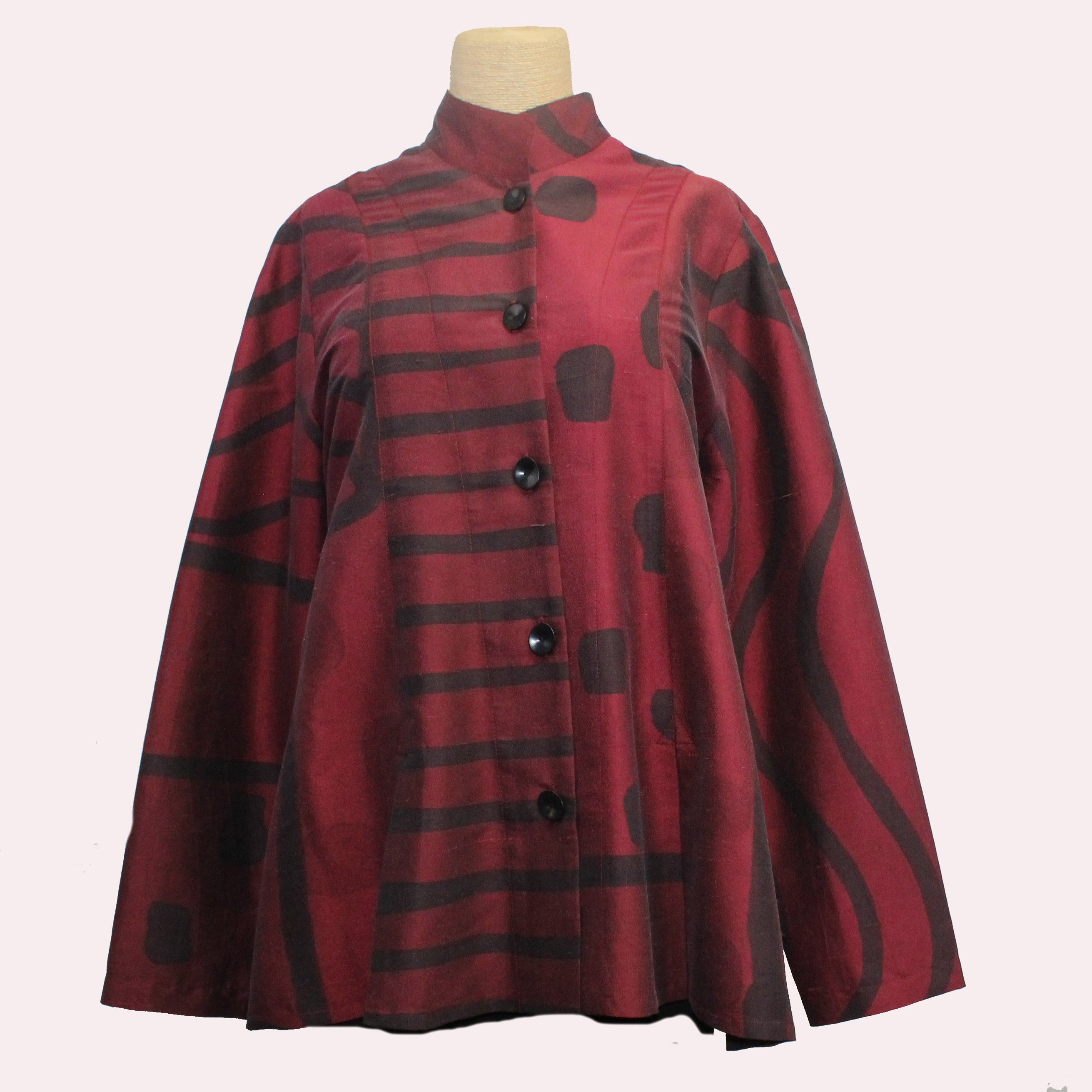 Kay Chapman Shirt, Burgundy/Wine/Black, S/M