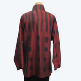 Kay Chapman Shirt, Wine/Black, M