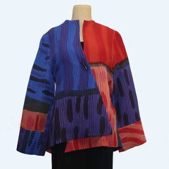 Kay Chapman Jacket, Orange/Blue, S