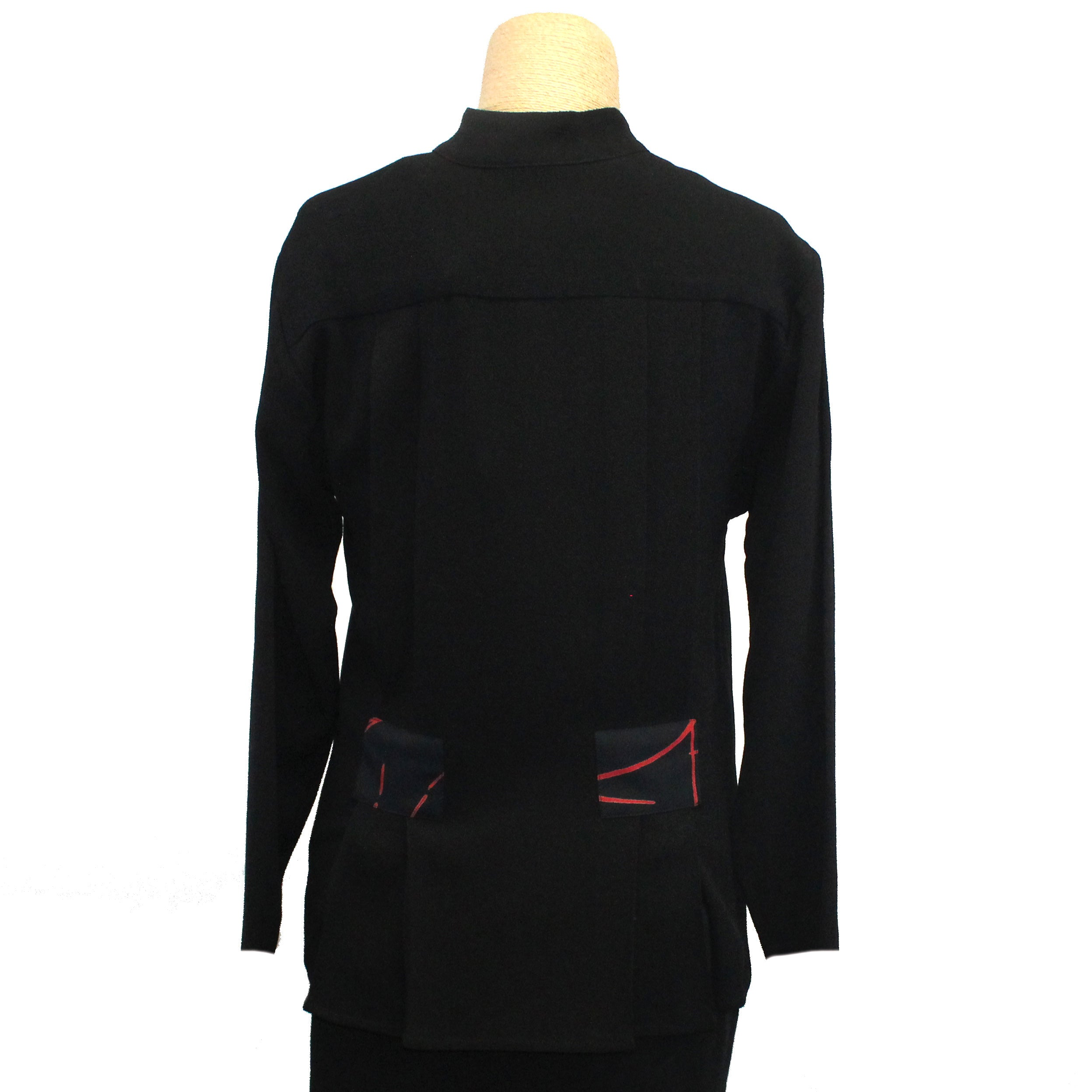 Marla Duran Shirt, Asian, Black/Red XXS & M