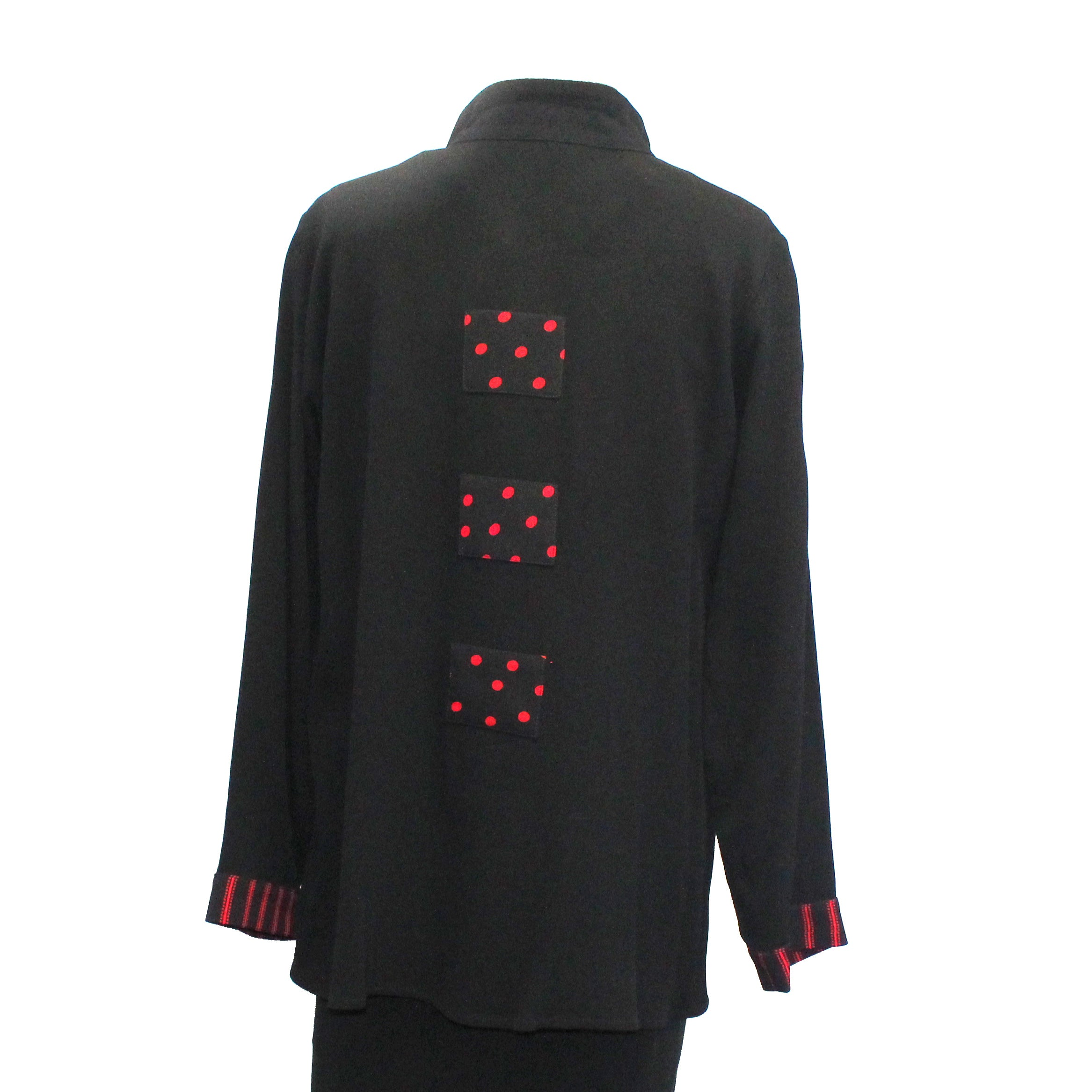 Marla Duran Shirt, Swing, Black/Red S & L