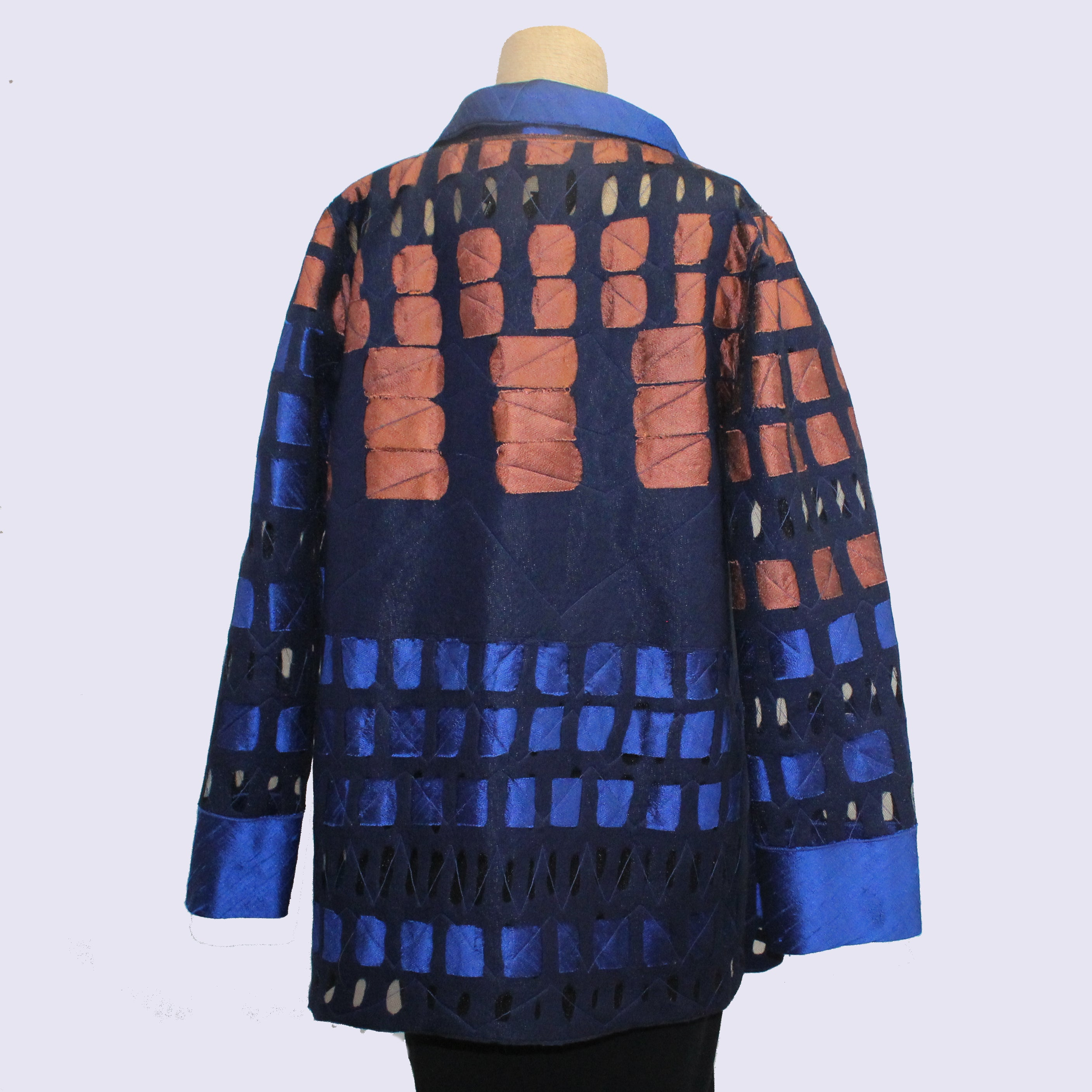 Maggy Pavlou Jacket, Blue/Copper/Navy, M