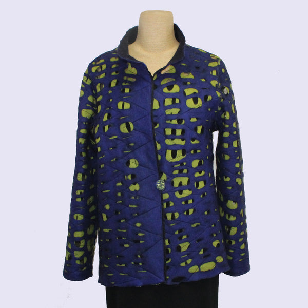 Maggy Pavlou Jacket, Sapphire/Chartreuse, XS