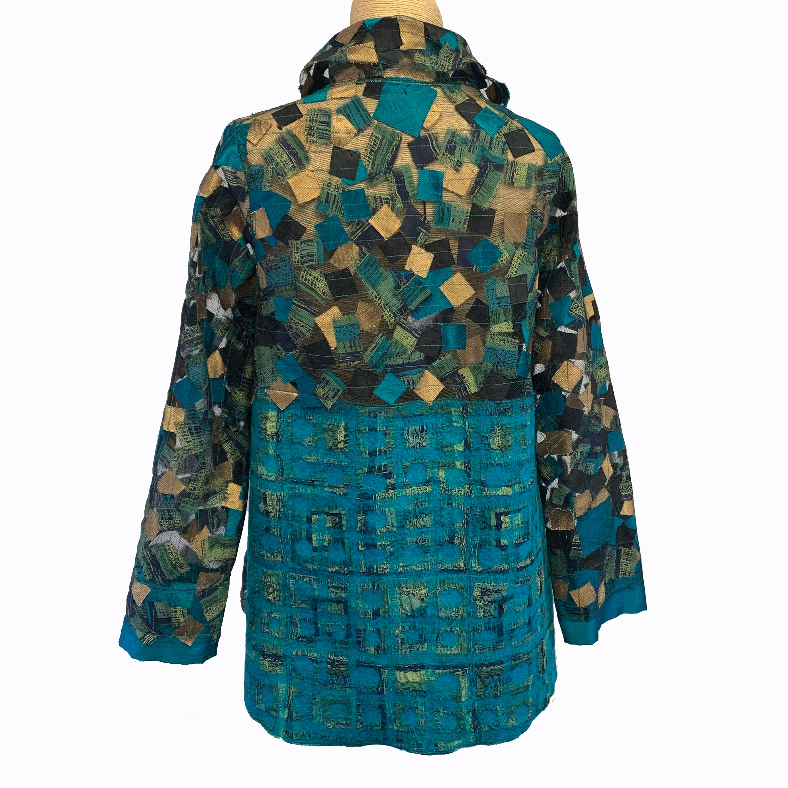 NEW PRICE! Maggy Pavlou Jacket, Turquoise/Gold, S