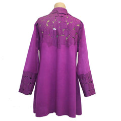 Maggy Pavlou Jacket, Purple, M