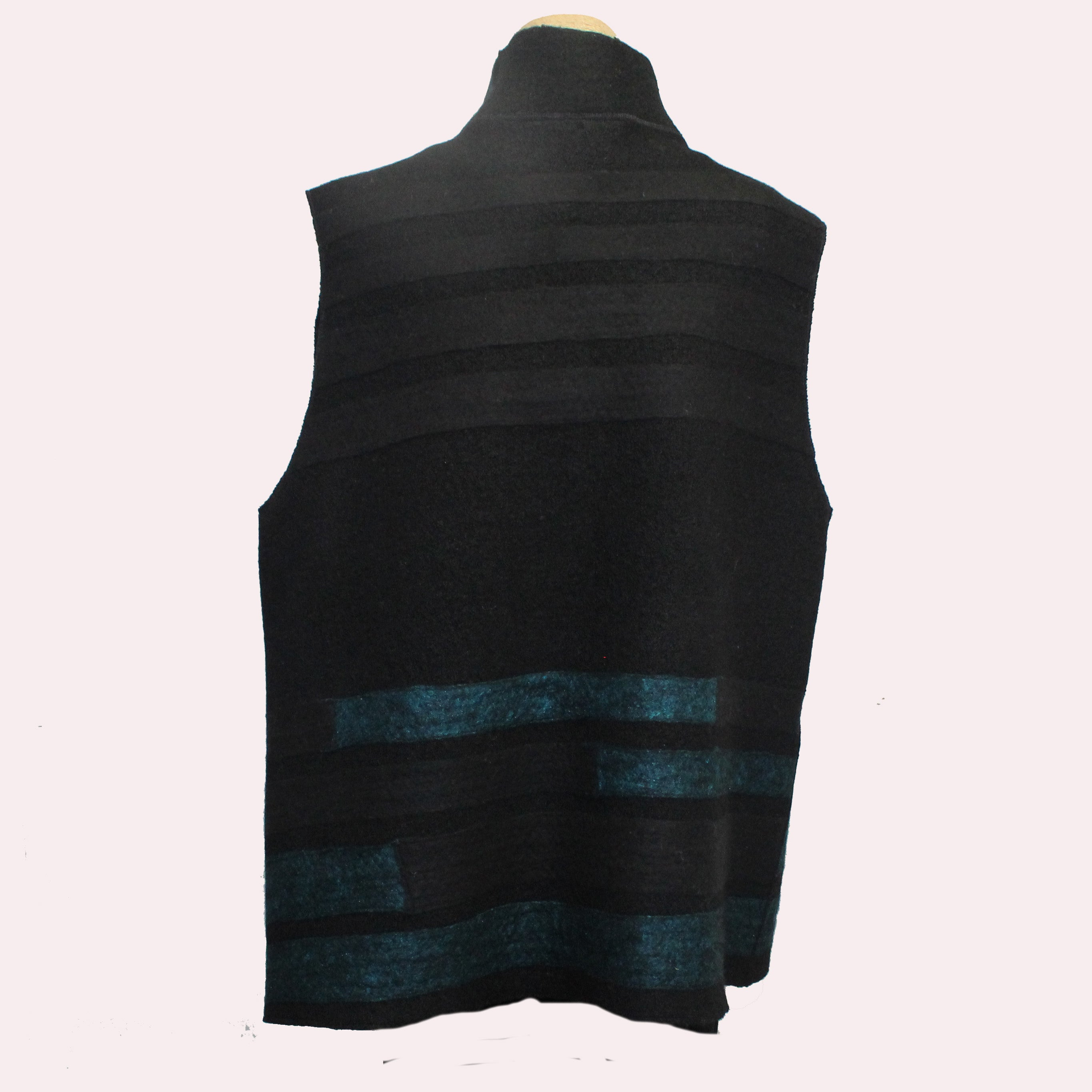 Maggy Pavlou Vest, Black/Teal, L