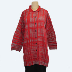 M Square Shirt, Flutter, Red/Grey, S/M