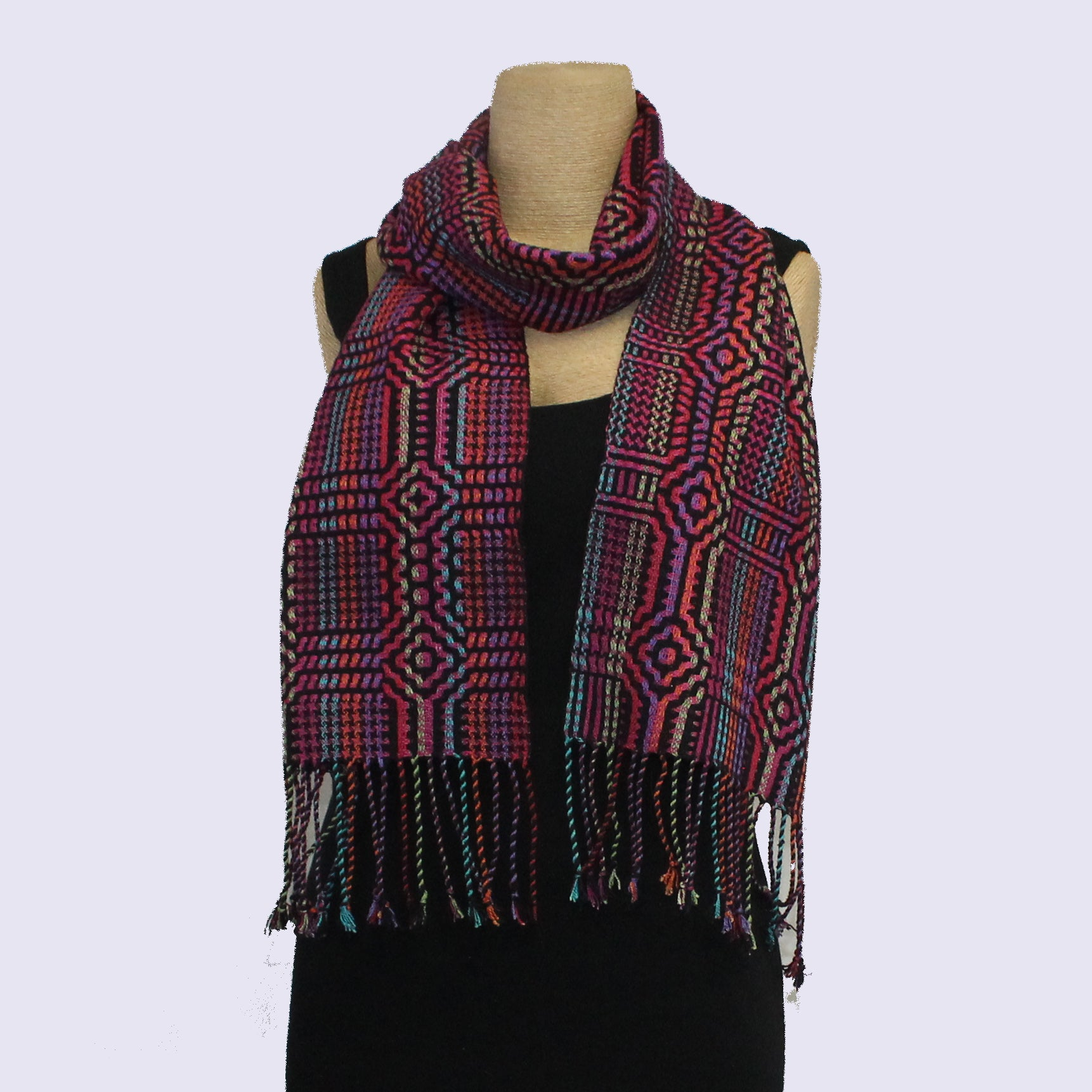 Muffy Young Scarf, Andes Sun-Vibrant, Magenta