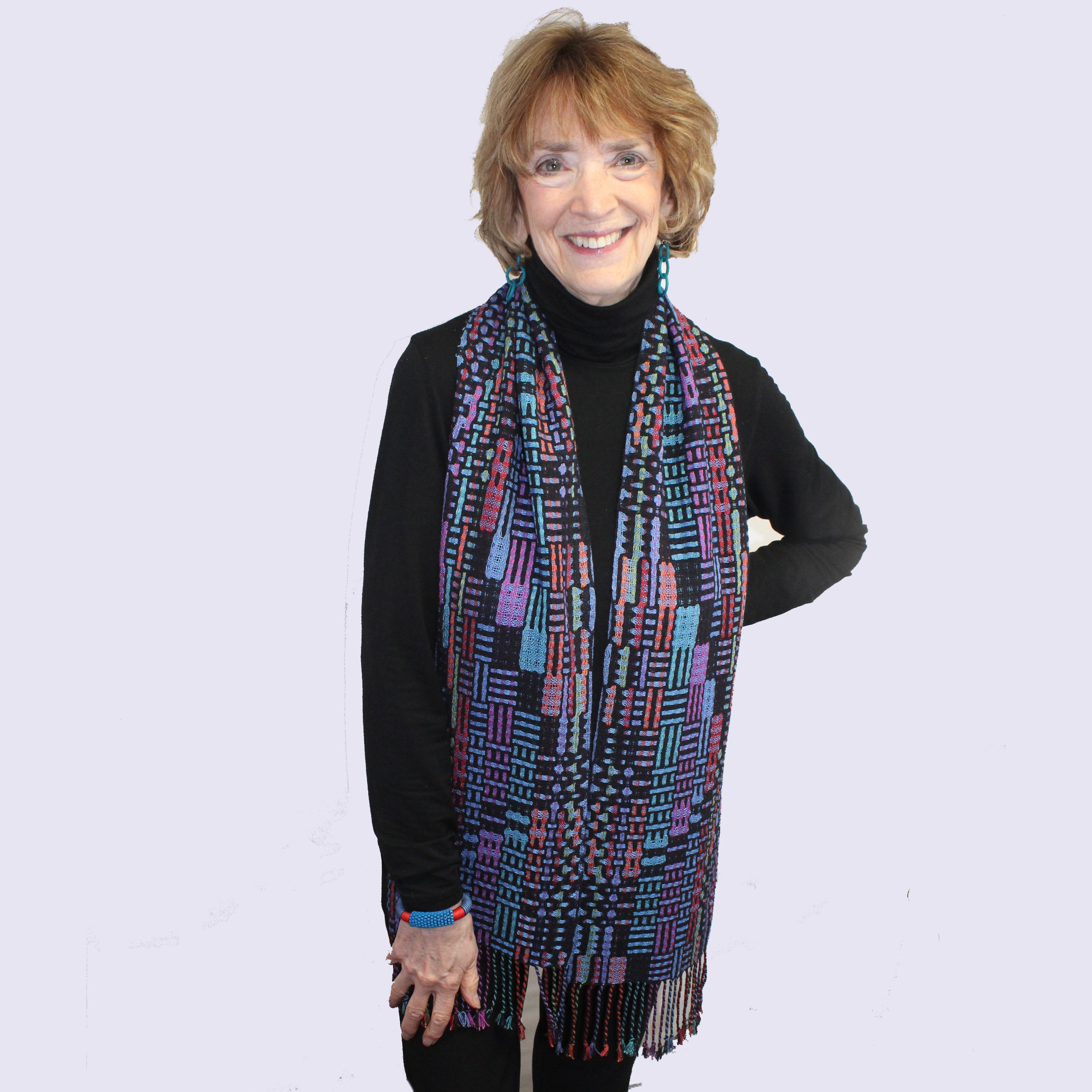 Muffy Young Scarf, New Wave-Vibrant, Blue