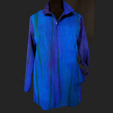 Doshi Jacket, Zip, Shades of Blue, S/M
