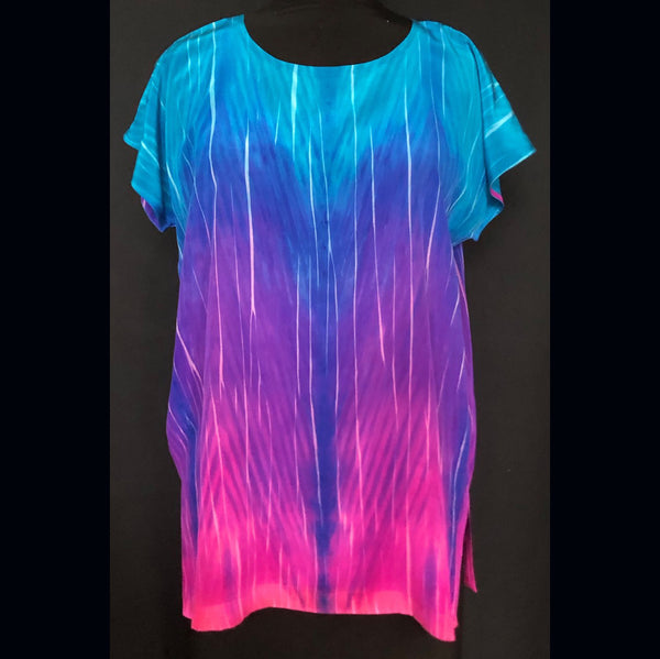 Doshi Tunic, Hot Pink/Cool Blue