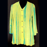 Doshi Shirt, Whoop De Do, Turquoise/Green, S