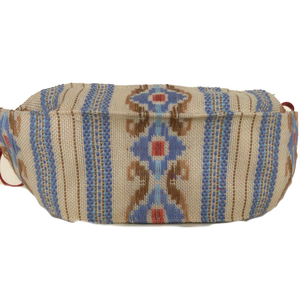 Doshi Mask, Embroidered, Tan/Blue