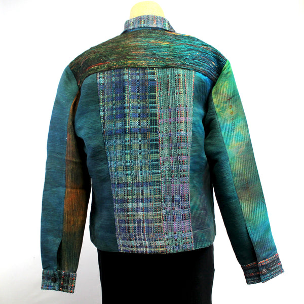 Darwall & Murphy Jacket, Pieced, Turquoise/Green, S