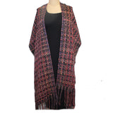 Randall Darwall Shawl, Red/Black