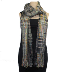 Randall Darwall Scarf, Summer & Winter, Black/Lime/Gold