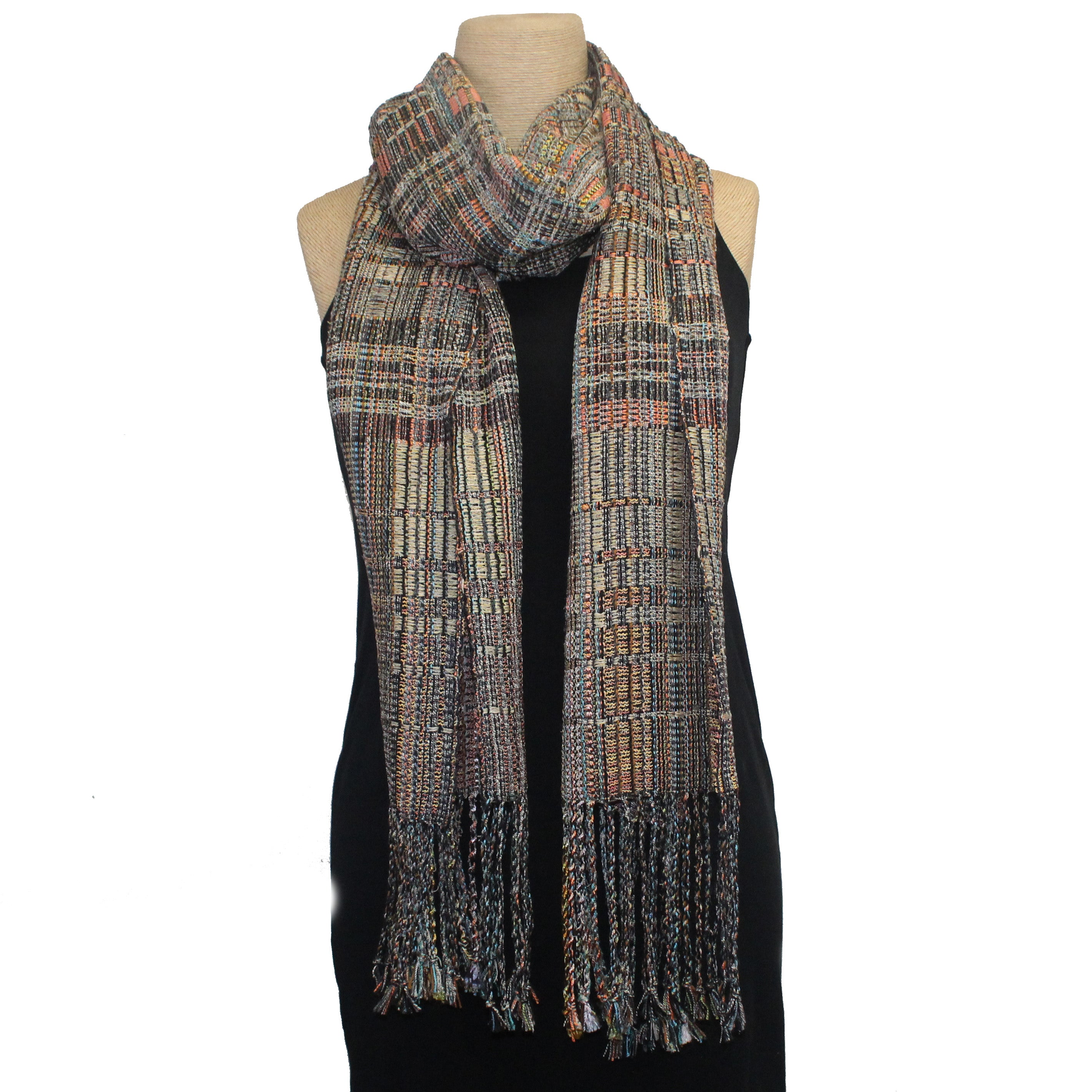 Randall Darwall Scarf, Summer & Winter, Brown/Coral