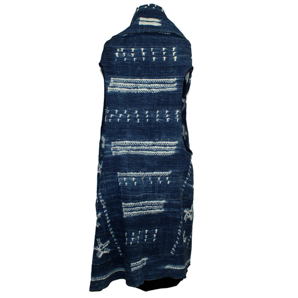 7 Hands Design Vest, African Indigo Circle
