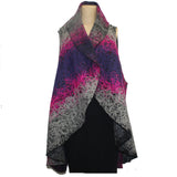 7 Hands Design, Circle Vest, Fuchsia/Purple/Grey, S/M