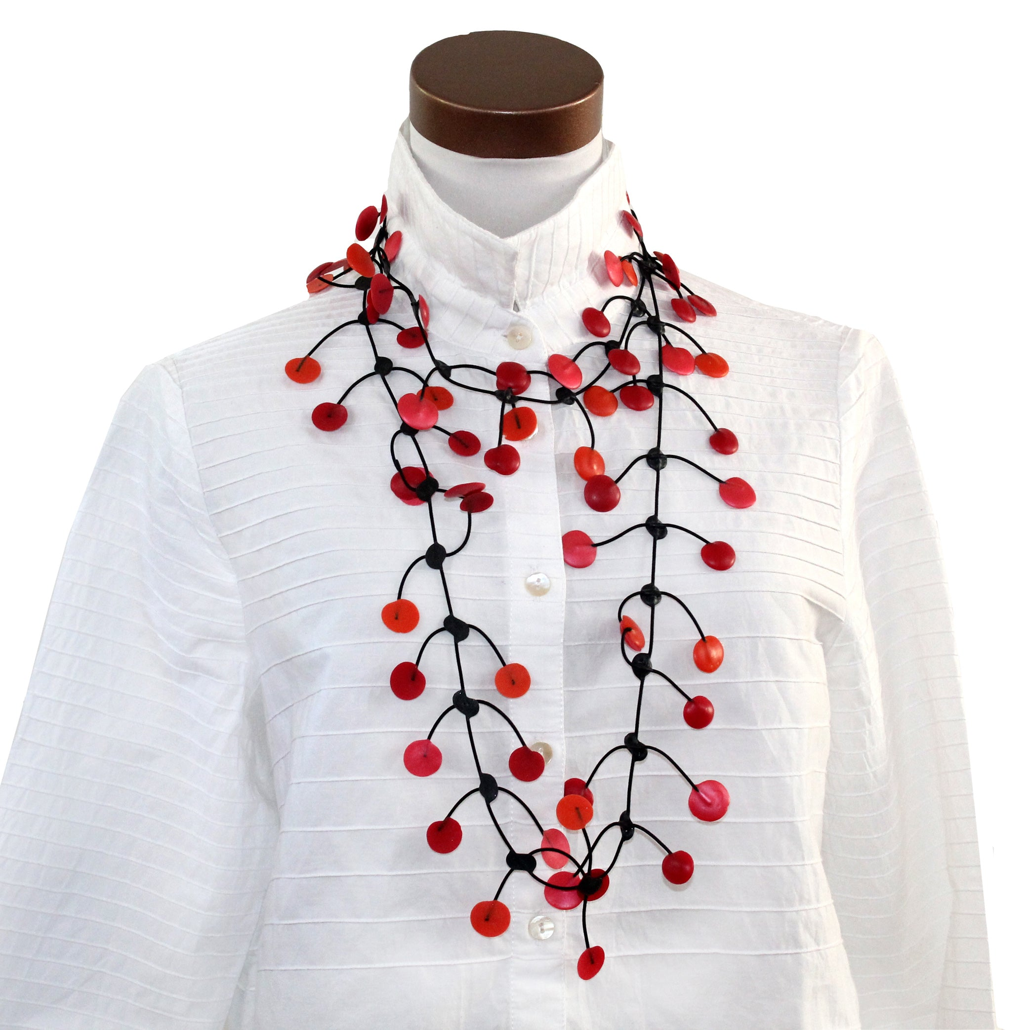 Annemieke Broenink, Necklace, Pop, Red/Orange