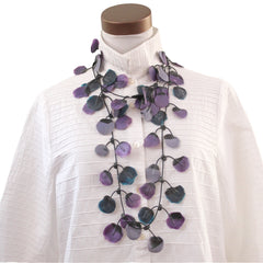 Annemieke Broenink, Necklace, Poppy, Purple/Blue