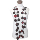 Annemieke Broenink, Necklace, Fabric, Red Black