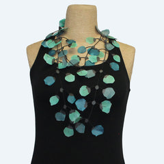 Annemieke Broenink, Necklace, Poppy, Aqua/Green