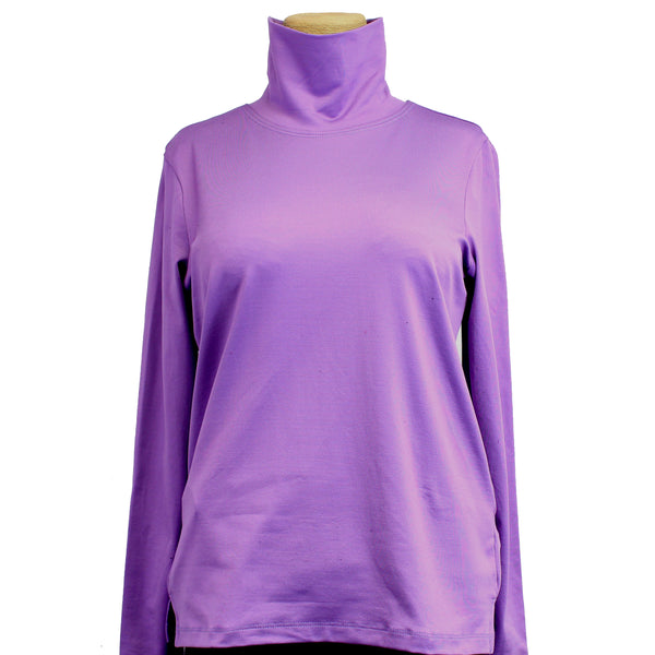 A'Nue Shirt, Turtleneck, Amethyst