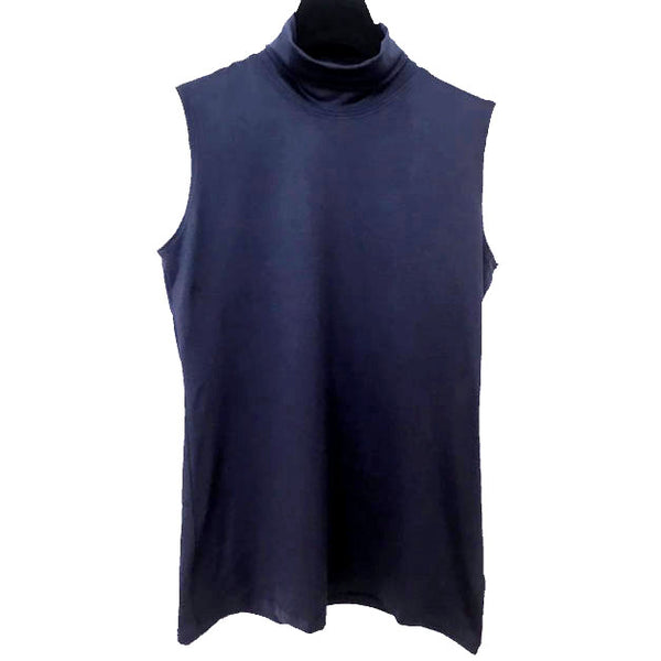 A'Nue Shirt, Turtleneck Sleeveless, Navy S,M/L & XL