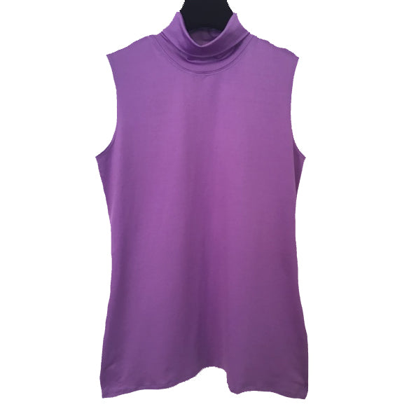 A'Nue Shirt, Turtleneck Sleeveless, Amethyst