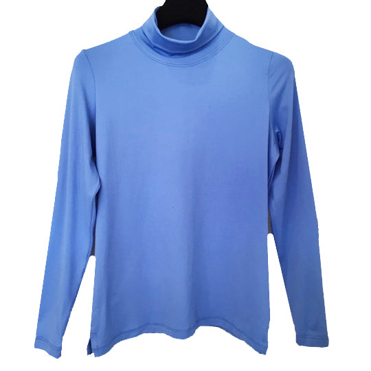 A'Nue Shirt, Turtleneck, French Blue XS