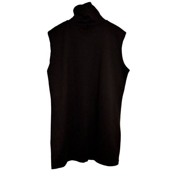 A'Nue Shirt, Turtleneck Sleeveless, Black