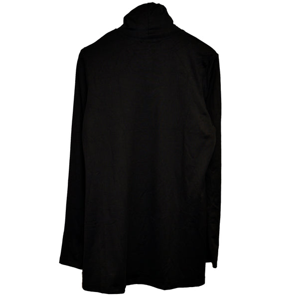 A'Nue Shirt, Turtleneck Tunic, Black