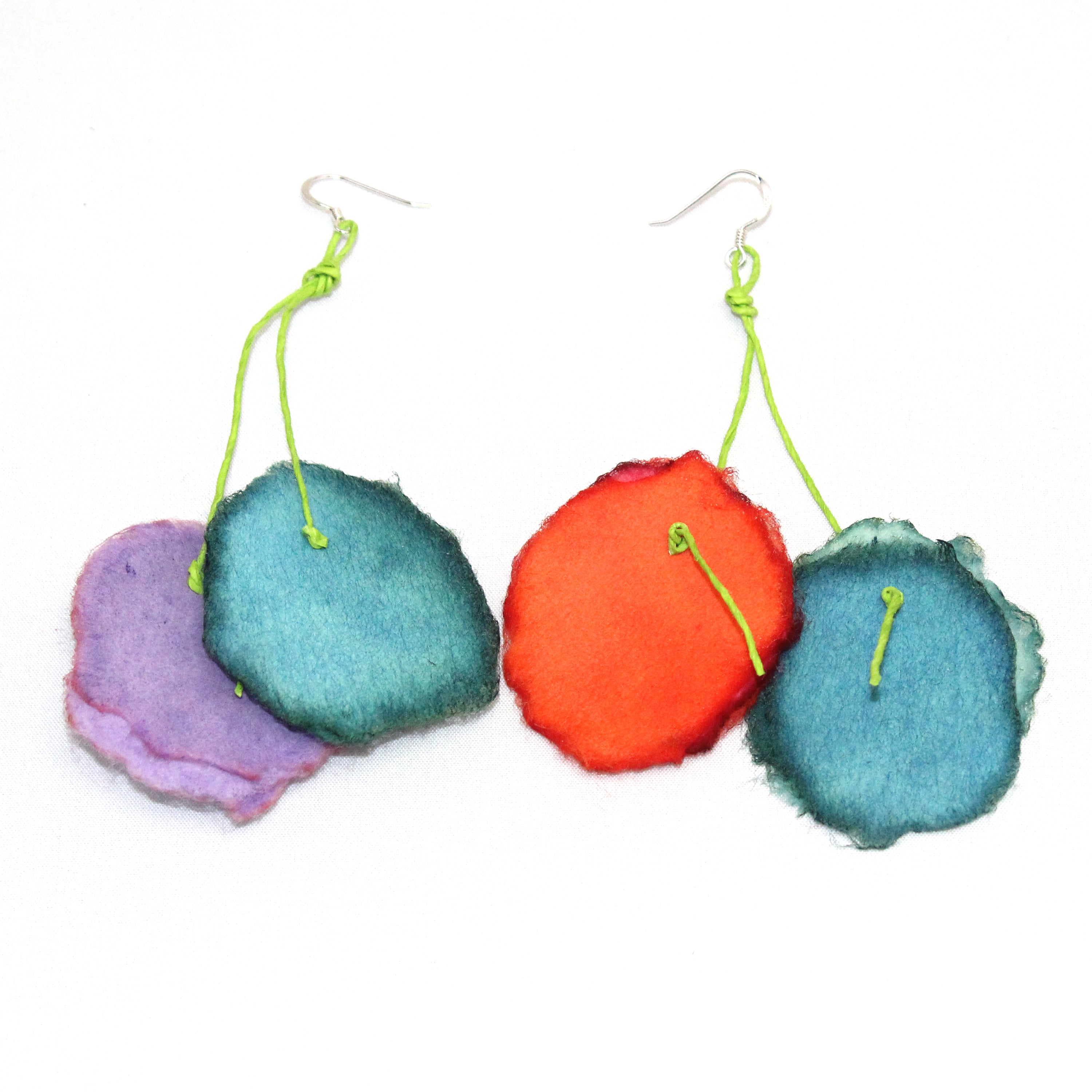 Begona Rentero Earrings, Ruff Color, Floral